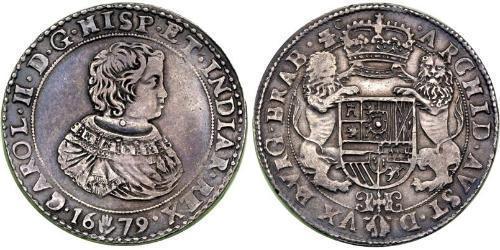 2 Ducaton Dutch Republic (1581 - 1795) Silver Charles II (1630-1685)