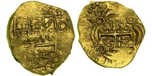 2 Escudo New Kingdom of Granada (1549 - 1739) Gold Philip V of Spain(1683-1746)