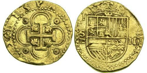 2 Escudo Habsburg Empire (1526-1804) / Spanien Or Philippe II d