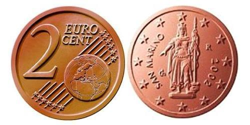 2 Eurocent San Marino Steel/Copper