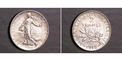 2 Franc Tercera República Francesa (1870-1940)  Plata