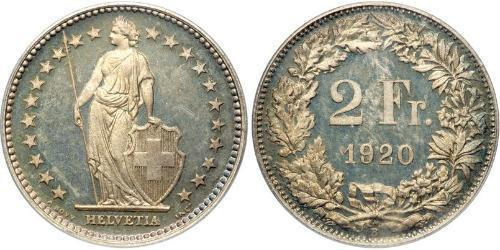 2 Franc Schweiz Silber