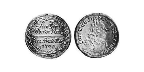 2 Groschen Principality of Ansbach (1398–1792) Silver Charles William Frederick, Margrave of Brandenburg-Ansbach (1712 – 1757)
