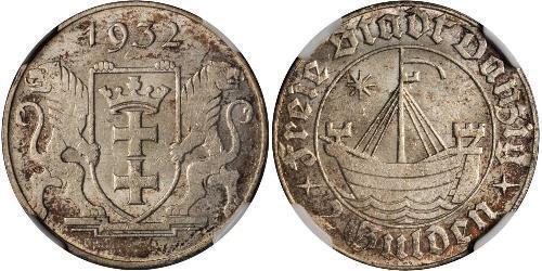2 Gulden 但澤自由市 (1920 - 1939) 銀
