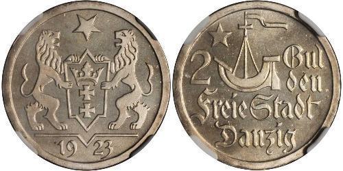 2 Gulden Gdansk (1920-1939) Silber