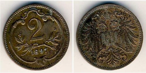 2 Heller Autriche-Hongrie (1867-1918) Bronze