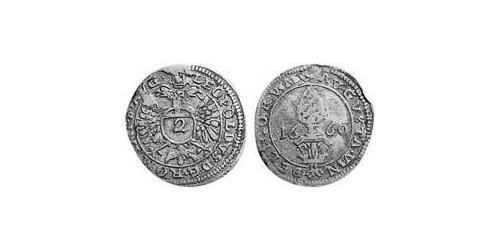 2 Kreuzer Imperial City of Augsburg (1276 - 1803) Silver Leopold I, Holy Roman Emperor (1640-1705)