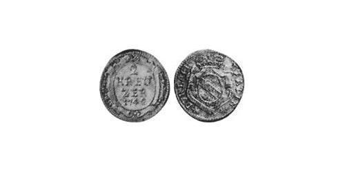 2 Kreuzer Margrave of Baden-Durlach (1535 - 1771) Silver