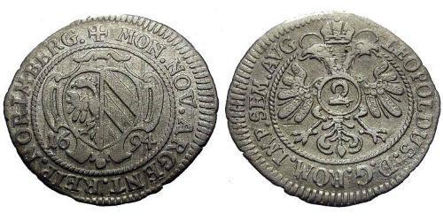 2 Kreuzer States of Germany Silver Leopold I, Holy Roman Emperor (1640-1705)
