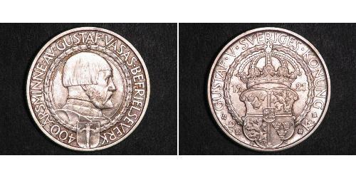 2 Krone Svezia Argento