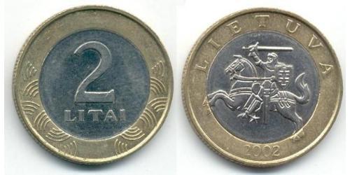2 Litas Lituania (1991 - ) Bimetal