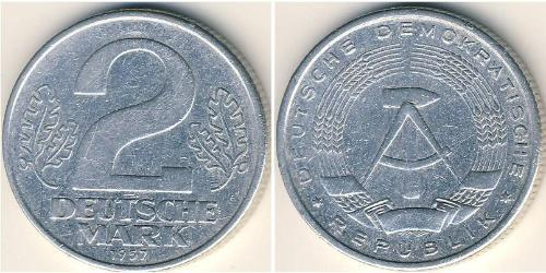 2 Mark German Democratic Republic (1949-1990) Aluminium
