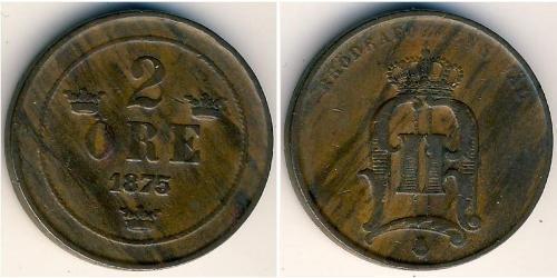 2 Ore 瑞典 青铜