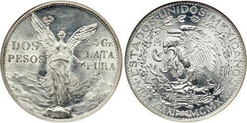 2 Peso Messico (1867 - ) Argento