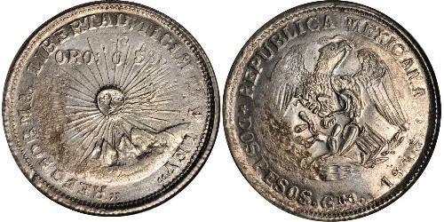 2 Peso México (1867 - ) Plata