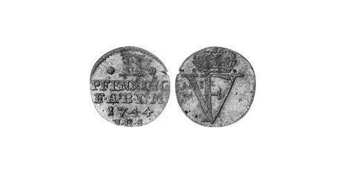 2 Pfennig Anhalt-Bernburg (1603 - 1863) Billon Victor Frederick, Prince of Anhalt-Bernburg (1700 – 1765)