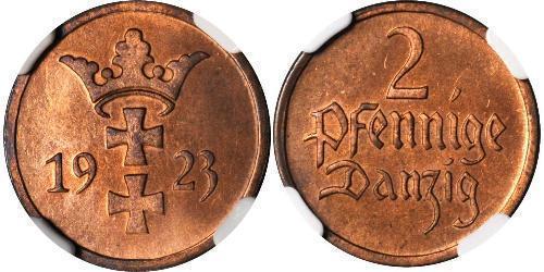 2 Pfennig Gdansk (1920-1939) Bronze