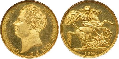 2 Pound Vereinigtes Königreich von Großbritannien und Irland (1801-1922) Gold Georg IV (1762-1830)