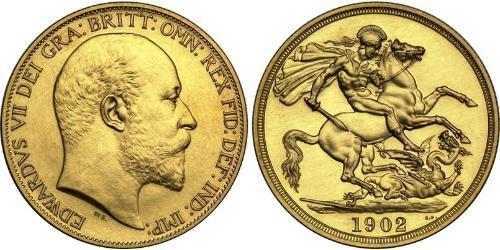 2 Pound Vereinigtes Königreich von Großbritannien und Irland (1801-1922) Gold Eduard VII (1841-1910)