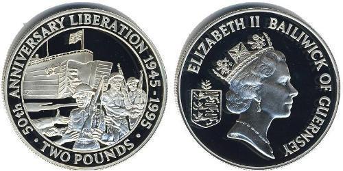 2 Pound Guernsey Silver