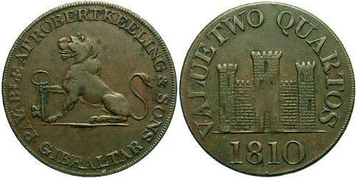 2 Quarto Gibraltar Copper