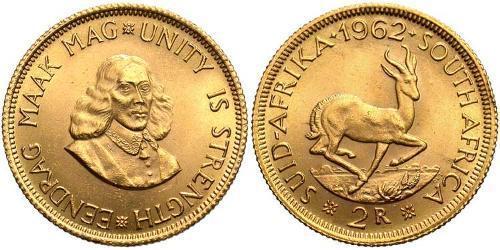 2 Rand Afrique du Sud Or