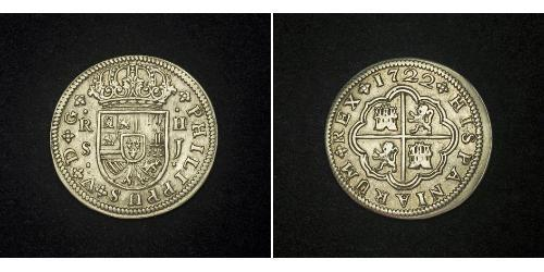 2 Real Spanish Empire (1700 - 1808) Silver