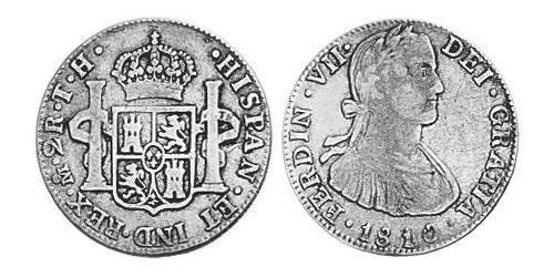 2 Real Spanish Mexico  / Kingdom of New Spain (1519 - 1821) Silver Charles IV of Spain (1748-1819)