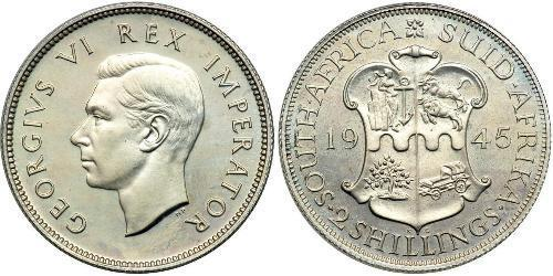 2 Shilling South Africa 銀 乔治六世 (1895-1952)