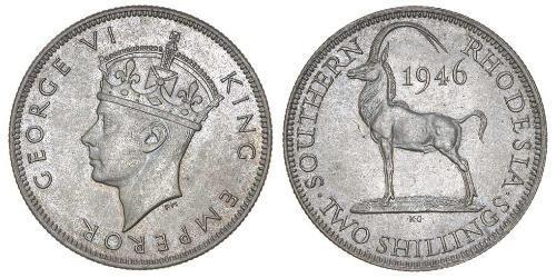 2 Shilling Southern Rhodesia (1923-1980) Copper/Nickel George VI (1895-1952)