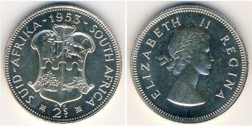 2 Shilling Südafrika Silber