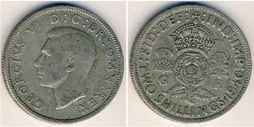 2 Shilling Vereinigtes Königreich Silber Georg VI (1895-1952)
