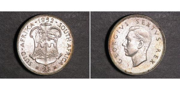 2 Shilling South Africa Silver George VI (1895-1952)