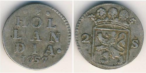 2 Stiver Repubblica delle Sette Province Unite (1581 - 1795) Argento