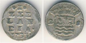 2 Stiver Kingdom of the Netherlands Silver