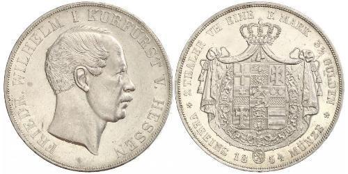 2 Thaler 黑森-达姆施塔特 (1806 - 1918) 銀 弗里德里希·威廉 (黑森选侯) (1802 - 1875)