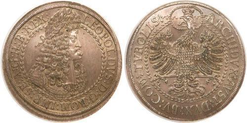 2 Thaler Saint-Empire romain germanique (962-1806) Argent Léopold Ier de Habsbourg(1640-1705)