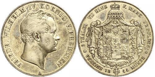 2 Thaler Regno di Prussia (1701-1918) Argento Federico Guglielmo IV di Prussia (1795 - 1861)
