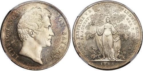 2 Thaler Reino de Baviera (1806 - 1918) Plata Luis I de Baviera(1786 – 1868)