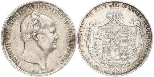 2 Thaler Reino de Prusia (1701-1918) Plata Federico Guillermo IV de Prusia (1795 - 1861)