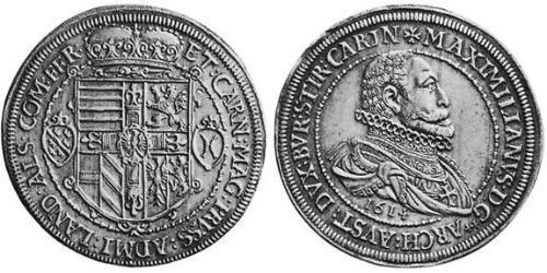 2 Thaler Alsace Silver Maximilian III, Archduke of Austria (1558 – 1618)