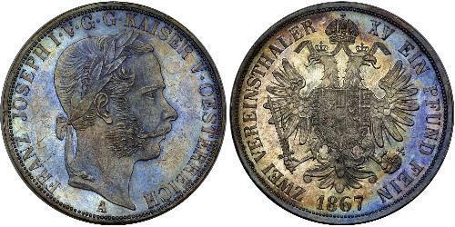 2 Thaler Austrian Empire (1804-1867) Silver Franz Joseph I (1830 - 1916)