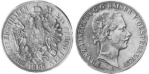 2 Thaler Austrian Empire (1804-1867) Silver