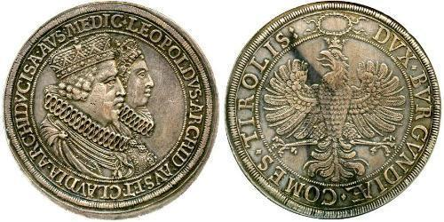 2 Thaler Holy Roman Empire (962-1806) Silver Leopold V, Archduke of Austria (1586 – 1632)