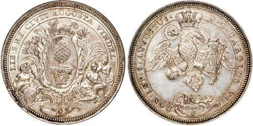 2 Thaler Imperial City of Augsburg (1276 - 1803) Silver Charles VI, Holy Roman Emperor (1685-1740)