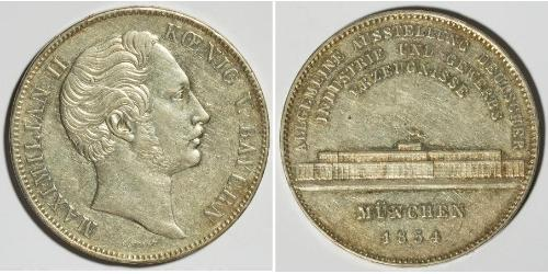 2 Thaler Kingdom of Bavaria (1806 - 1918) Silver Maximilian II of Bavaria (1811 - 1864)