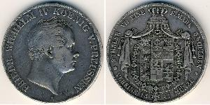 2 Thaler Kingdom of Prussia (1701-1918) Silver Frederick William IV of Prussia (1795 - 1861)