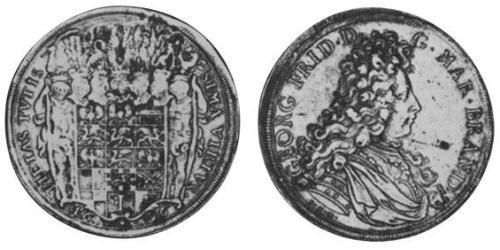 2 Thaler Principality of Ansbach (1398–1792) Silver