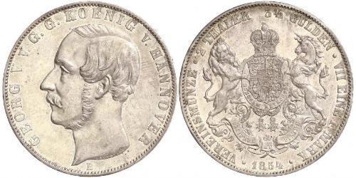 2 Thaler / 3.5 Gulden Reino de Hannover (1814 - 1866) Plata Jorge V de Hannover (1819 - 1878)