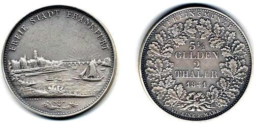 2 Thaler / 3.5 Gulden Germany Silver